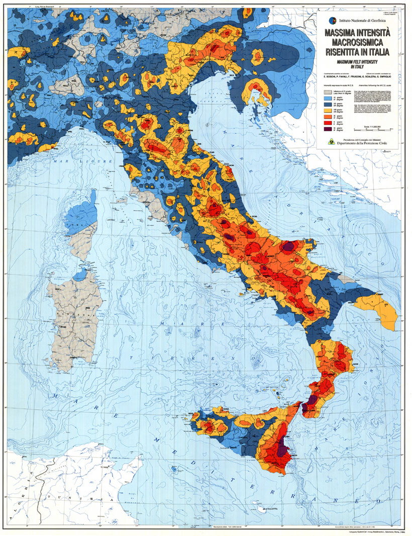 Terremoti in tempo reale: oggi 18 maggio 2013 nuove scosse sul Pollino e a Città di Castello