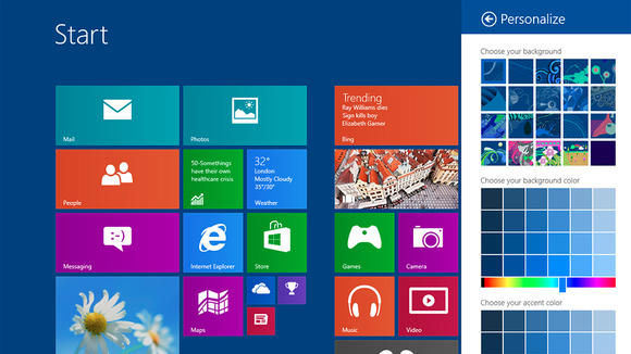 Windows 8.1  nel nuovo sistema operativo ritorna il tasto start