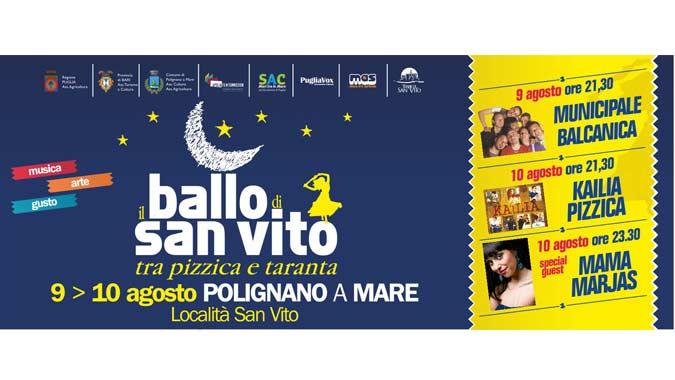 """Concerto Municipale Balcanica """"Il ballo di San Vito"""" oggi Polignano a Mare 9 agosto 2013 orario evento e curiosità"""