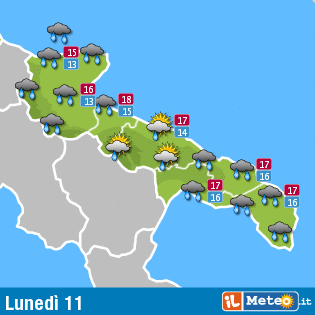 Previsioni meteo Bari: per i giorni 11,12 e13 novembre 2013