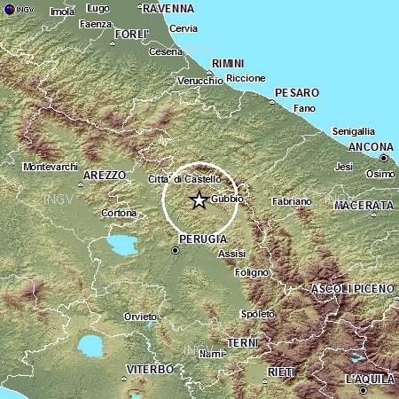 Terremoti in tempo reale: aggiornamenti su forti scosse in Umbria