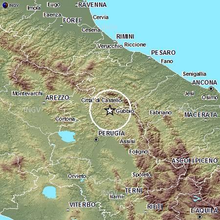 Terremoti in tempo reale: news nuove forti scosse a Gubbio in Umbria