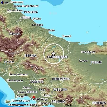 Terremoti in tempo reale: news su forte scossa tra Campobasso e Foggia