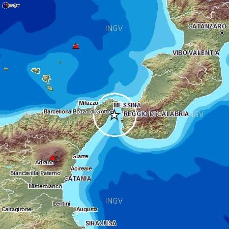 Terremoti in tempo reale: ultime notizie forte scossa a Messina e Reggio Calabria