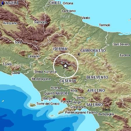 Terremoti in tempo reale: ultime notizie forte scossa tra Campania e Molise