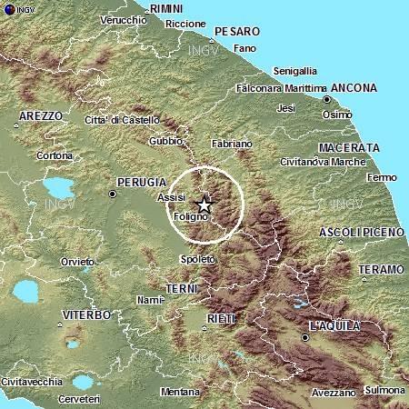Terremoti in tempo reale: news oggi nuova forte scossa tra Umbria e Marche
