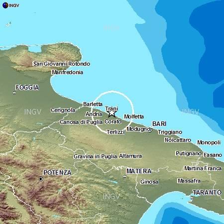 Terremoti in tempo reale: nuove scosse provincia di Bari e Gubbio