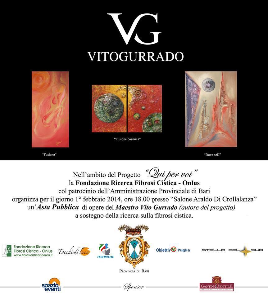 All'asta le opere di Vito Gurrado: il 1 febbraio alla provincia di Bari in favore della ricerca sulla Fibrosi Cistica