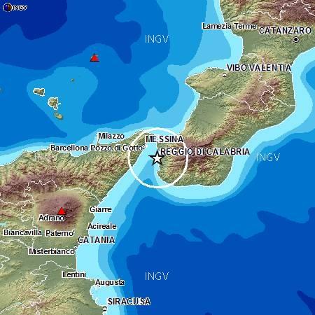 Terremoti in tempo reale: news oggi nuove scosse Messina e Reggio Calabria
