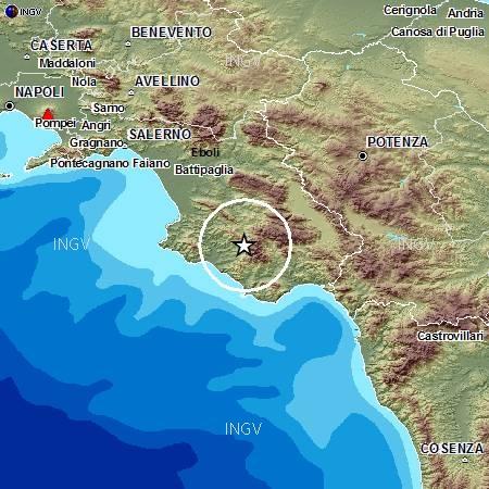 Terremoto in tempo reale: ultime notizie nuove scosse oggi Cilento (Campania)