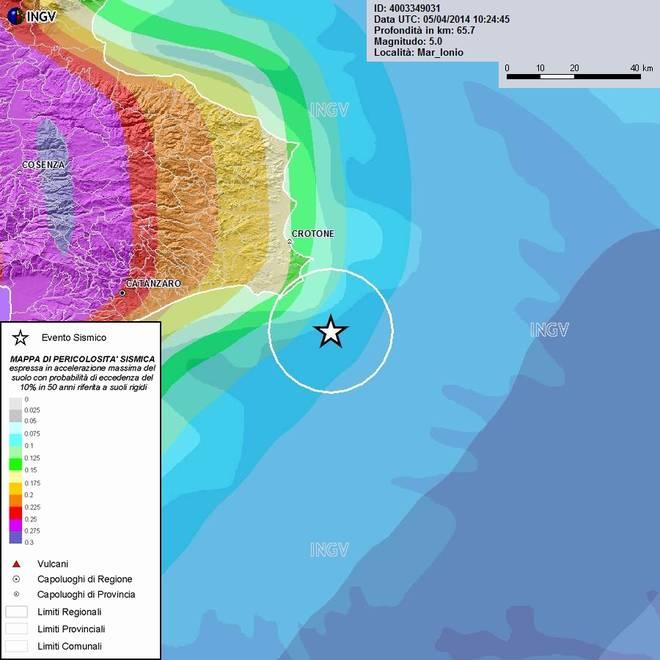 Terremoti in tempo reale: ultime notizie forte scossa di oggi a Crotone