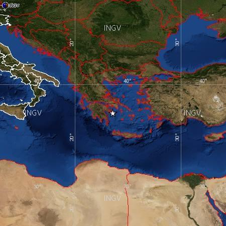 Terremoti in tempo reale: oggi forte scossa Grecia sentita a Bari e provincia