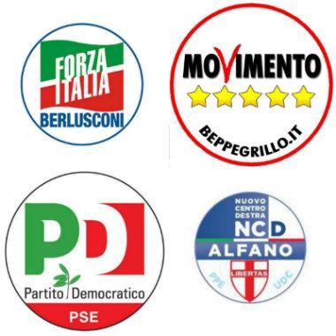 Ultimi sondaggi politici elettorali europee 2014: intenzioni e proiezioni di voto M5S, PD e FI