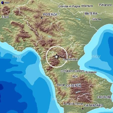 Terremoto Pollino in tempo reale: news forte scossa oggi avvertita in Puglia