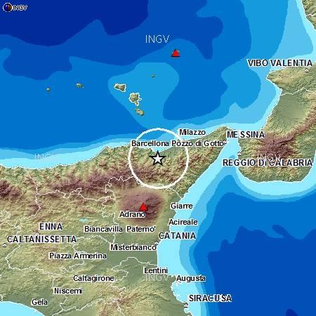 Terremoto Messina oggi in tempo reale: forte scossa nel pomeriggio in Sicilia