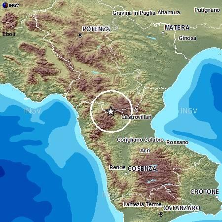 Terremoti in tempo reale: ultime news forte scossa oggi sul Pollino