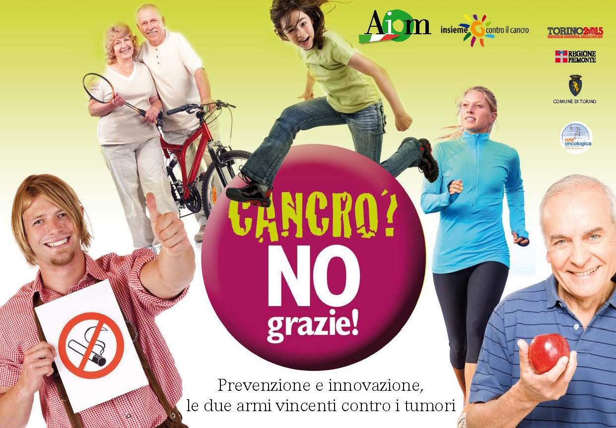 """""""Cancro? No, grazie!"""" tre giorni di incontri a Torino dedicati alla prevenzione"""