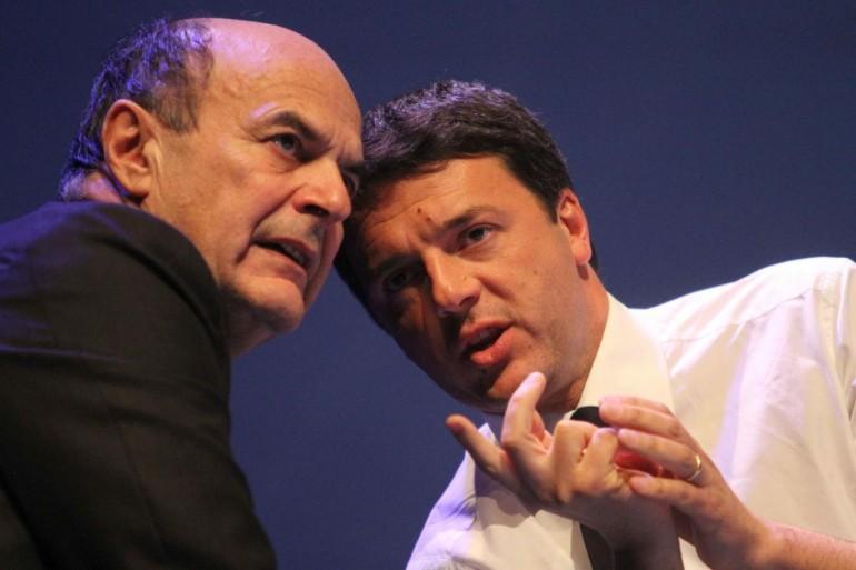 Bersani contro Renzi no a doppio incarico come Presidente del Consiglio e segretario