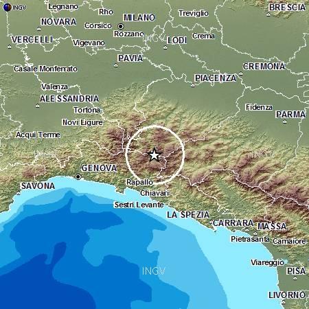Terremoto Liguria, forte scossa oggi distretto sismico Valle del Trebbia