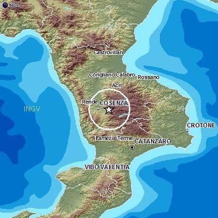 Terremoti in tempo reale oggi ultime notizie forte scossa a Cosenza in Calabria