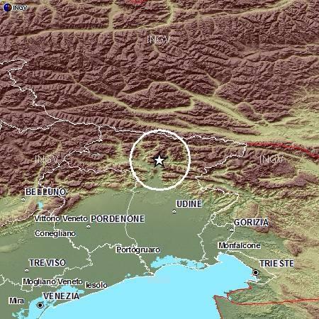 Terremoto Friuli, ultime notizie su forte scossa vicina a Udine