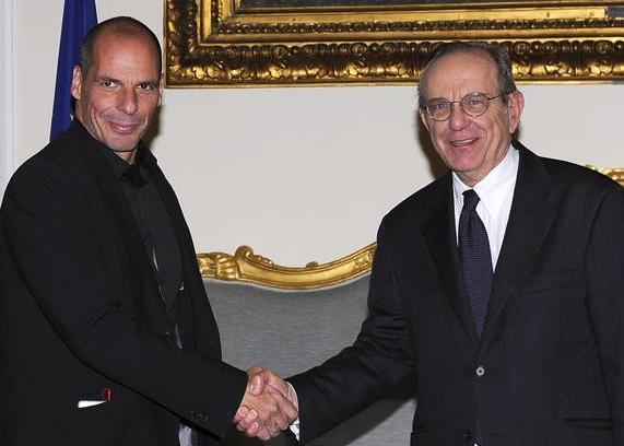 Ministro-economia-greco-l-Italia-è-a-rischio-bancarotta-Padoan-smentisce