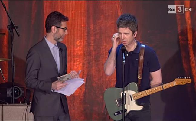 Noel Gallagher choc, Fazio uno strazio e donne italiane sosia di Jagger