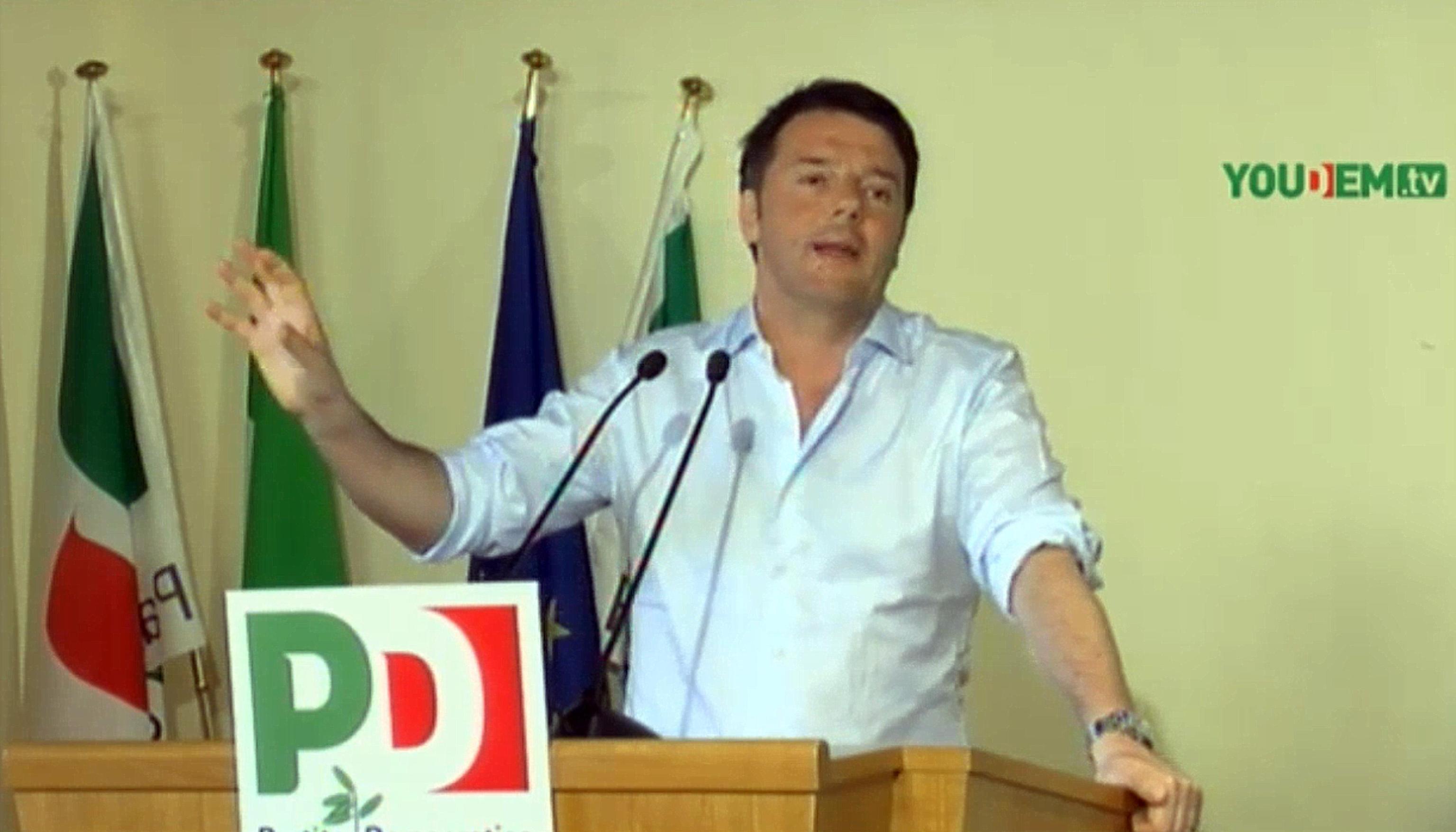 Renzi su Grillo è uno sciacallo e Landini e Salvini soprammobili da talk televisivo