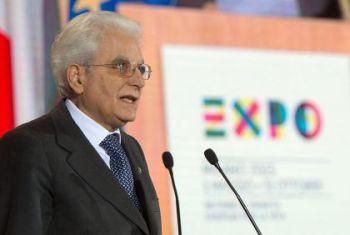 Mattarella, Expo occasione unica per l'Italia
