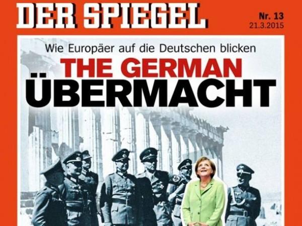 Spiegel polemica per copertina choc, Merkel circondata dai nazisti