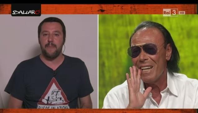 Salvini a Ballarò litiga in diretta tv con Antonello Venditti