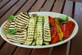 Verdure alla griglia hanno capacità antiossidanti