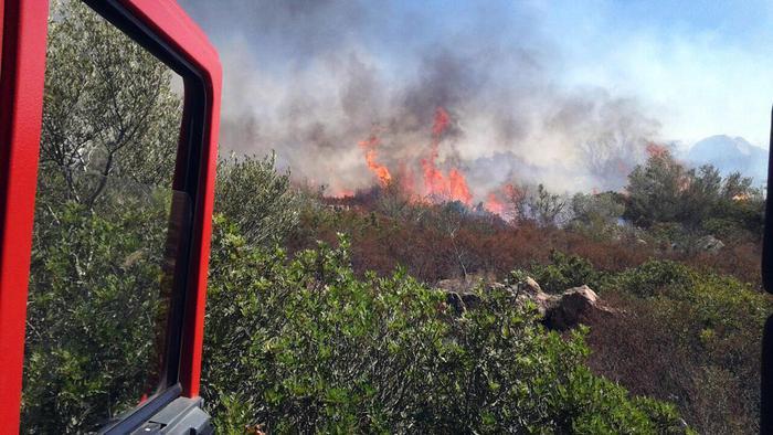 Nel barese, pauroso incendio di due capannoni sulla strada provinciale 231