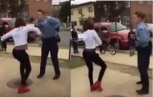 Usa-poliziotta-seda-una-rissa-tra-ragazze-ballando