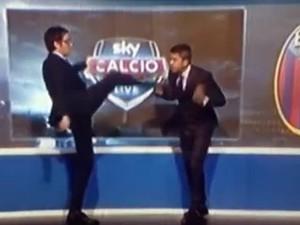 Marco-Cattaneo-spiega-il-perchè-del-calcio-in-faccia-in-diretta-tv-a-Costacurta