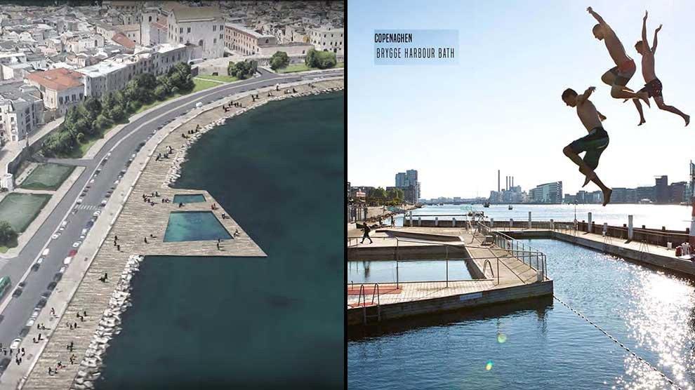 Bari, il restyling del lungomare prevede un enorme piscina salata nelle vicinanze della Basilica