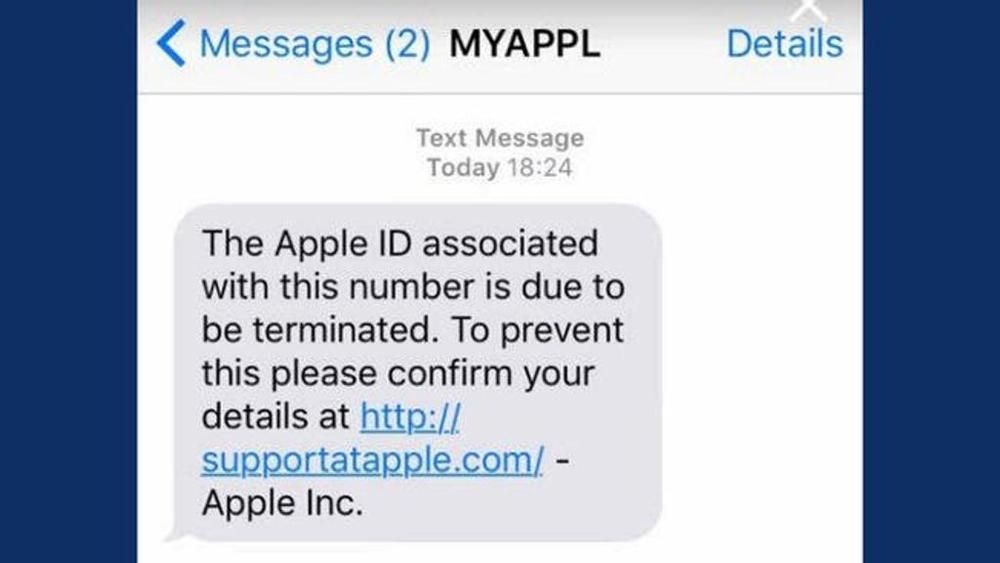 Ecco una nuova truffa all'iPhone un sms falso dal supporto di Apple