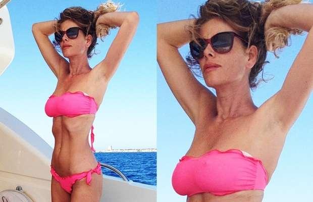 Alessia Marcuzzi prova bikini superata! Sui social mostra le sue curve esplosive