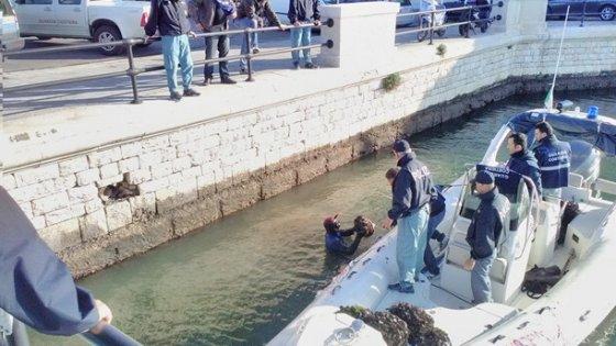 Bari, maxi sequestro al molo di San Nicola di cozze e ostriche conservate vicino scarico fogna