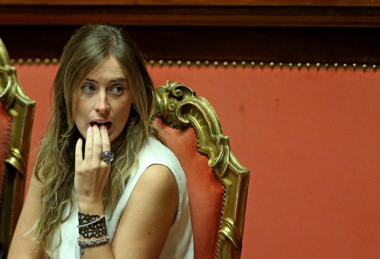 Maria Elena Boschi look mozzafiato alla prima de La Traviata a Roma