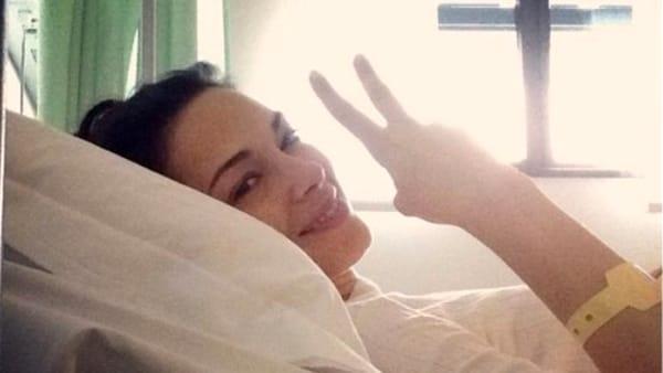 Giorgia Surina, saluta i fans dopo operazione per tumore