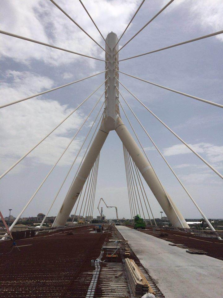 Bari a fine agosto il collaudo del ponte più lungo del Sud Italia, sarà il nuovo simbolo della città
