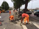27-06-16 ripresi i lavori spartitraffico in via Lucarelli 1