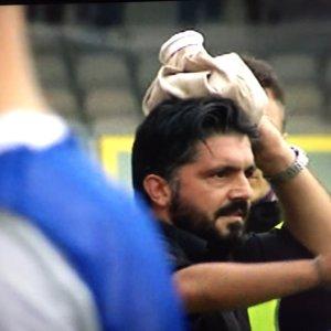 Foggia –Pisa alta tensione in campo, Gattuso colpito al campo, invasione di campo e partita sospesa per 10'