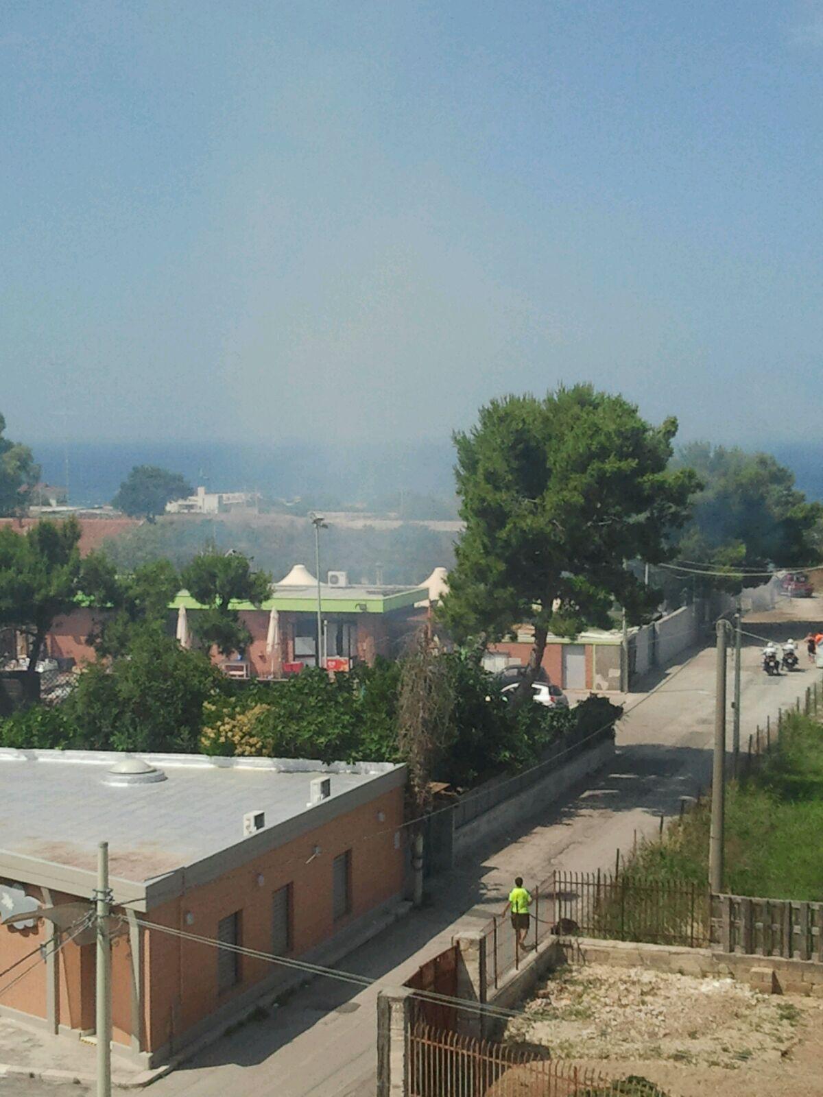Bari, incendio a Japigia. I residenti in balia dei piromani di campi