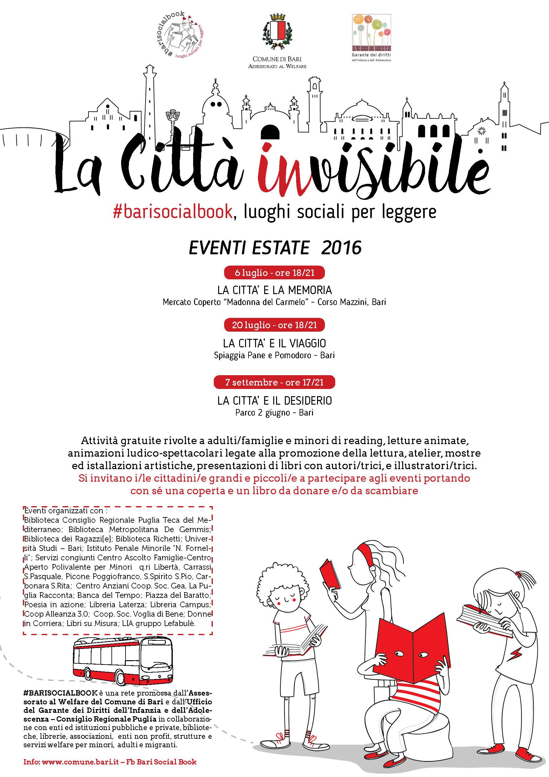 """Eventi, Bari da mercoledì 6 luglio diventa """"La Città inVisibile"""" sulle orme di Italo Calvino"""