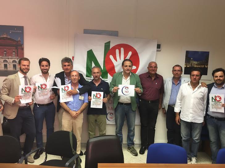 BARI VOTA NO, costituito il comitato che diffonderà le ragioni del NO alla modifica costituzione voluta da Matteo Renzi