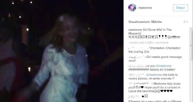 Anche Madonna balla la pizzica e viene invitata per la notte della Taranta il 27 agosto