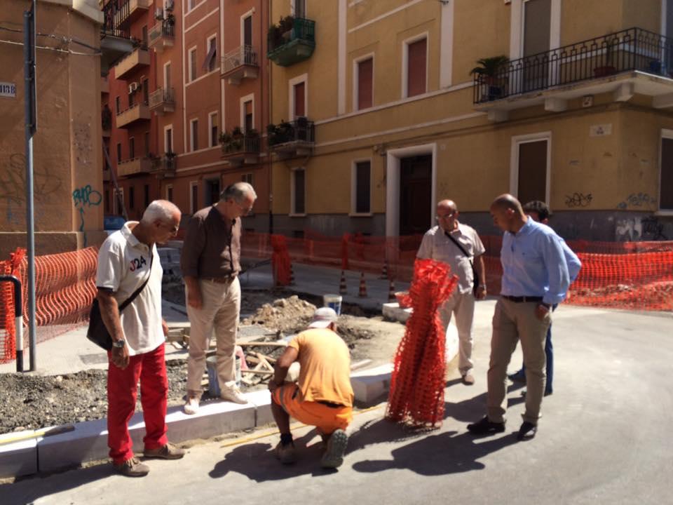 Bari, marciapiedi nuovi al quartiere Madonella. Lavori in via Istria fino alla prossima settimana