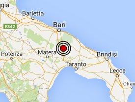 Puglia terremoto: ieri sera e stamattina due scosse  fra Gravina, Altamura, Poggiorsini, Irsina, Matera, Cassano delle Murge